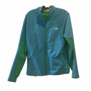 The North Face Women's Softshell Blue Green Jacket Size Large L